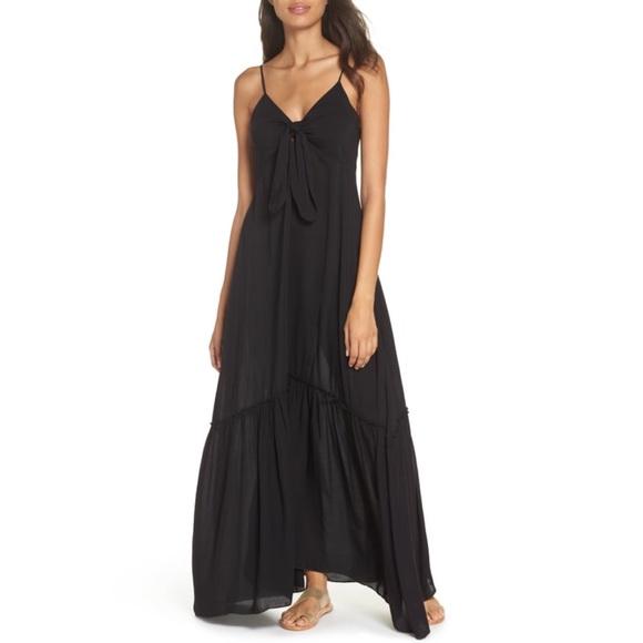 7083ea7597 Elan Swim | Tie Front Tiered Coverup Dress In Stores | Poshmark